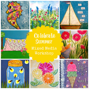 Easy Ideas for Summer Learning - Celebrate Summer Mixed Media Workshop