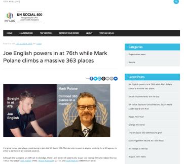 UN Social 500 as a blog post