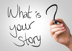 What is your story hand writing with a black mark on a transpare