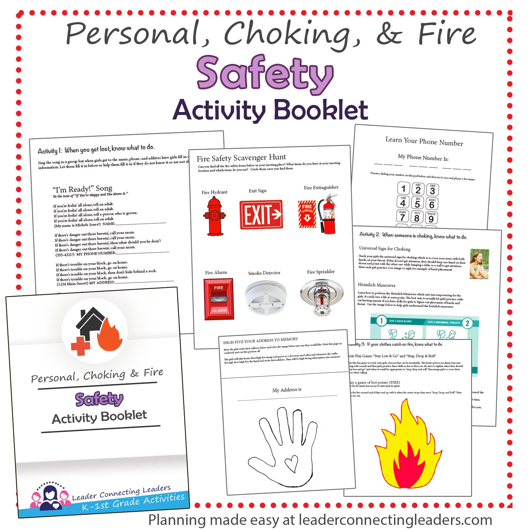 Safety Activity Booklet