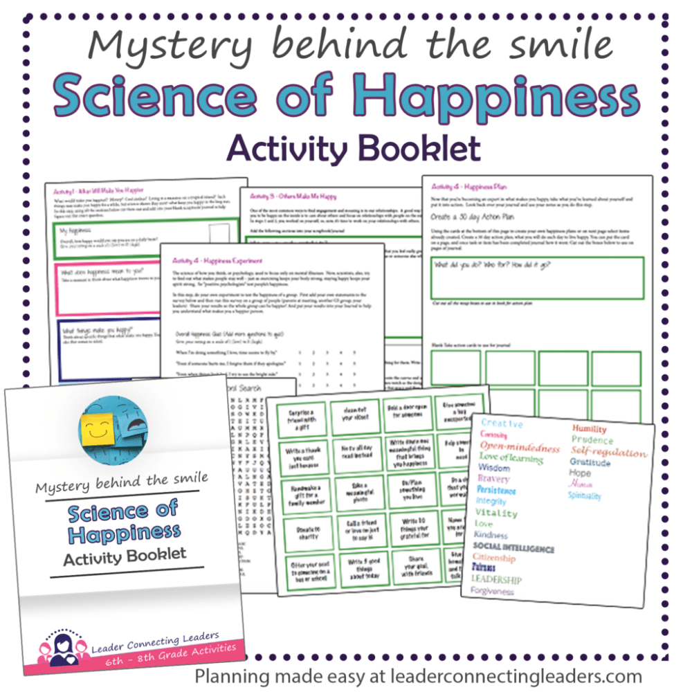 medium resolution of 3 Fun Activities To Earn The Cadette Science Of Happiness Badge   Leader  Connecting Leaders