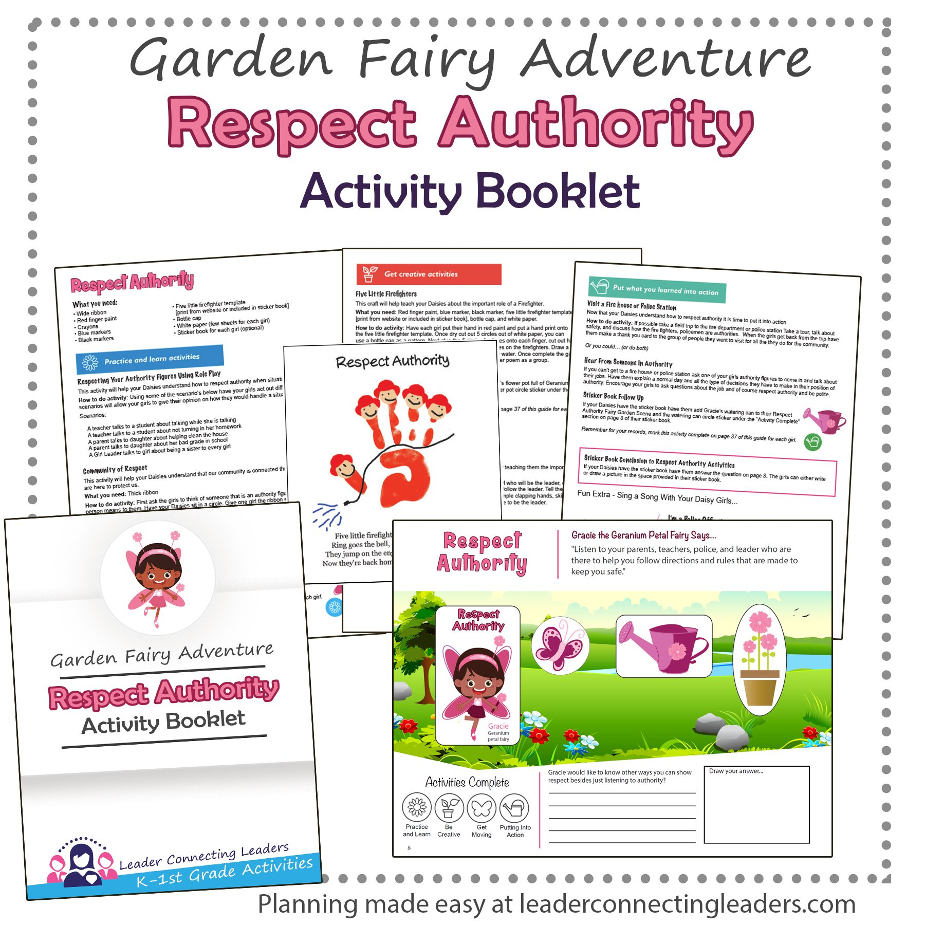 Respect Authority Fairy Garden Adventure Activity Booklet