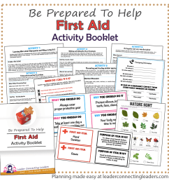 First Aid Activity Booklet   2nd - 3rd Grade   Leader Connecting Leaders [ 1800 x 1800 Pixel ]