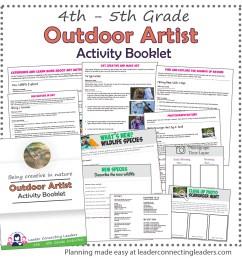 Outdoor Art Explorer Activity Booklet   Leader Connecting Leaders [ 1800 x 1800 Pixel ]
