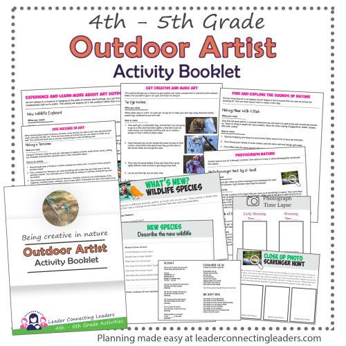 small resolution of Outdoor Art Explorer Activity Booklet   Leader Connecting Leaders