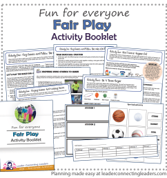 Fair Play Activity Booklet   Leader Connecting Leaders [ 1800 x 1800 Pixel ]