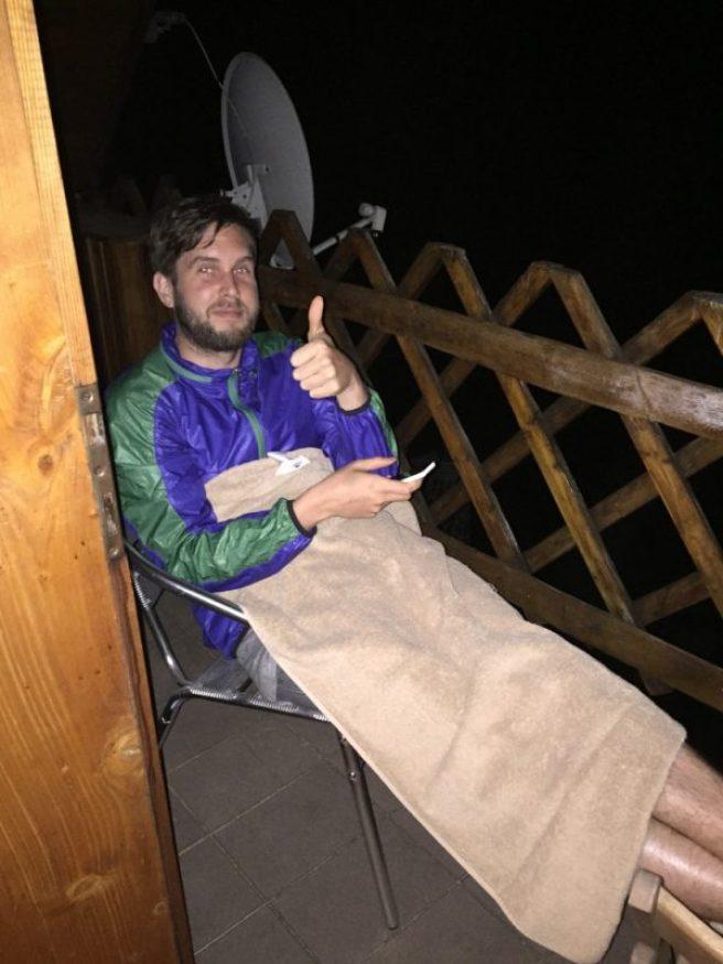 Jon on the balcony