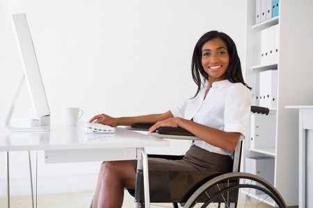 Business woman wheelchair