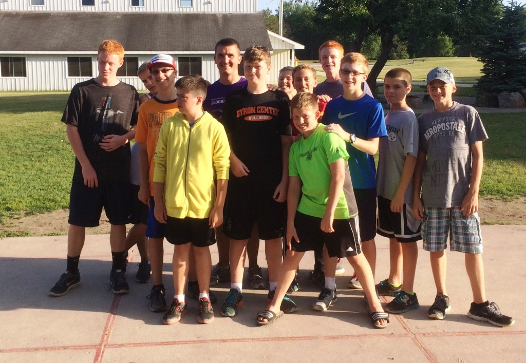Bryce McClelland, SpringHill Summer Leader, United States Naval Academy Mid-shipman 3rd Class and his campers