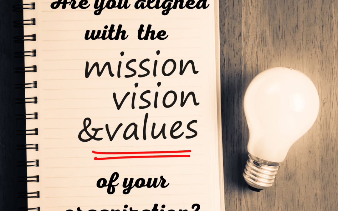 Are you aligned with the Mission, Vision and Values of your organization?