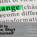 Commit to Change, Start with Yourself