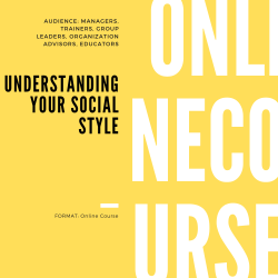 Understanding Your Social Style