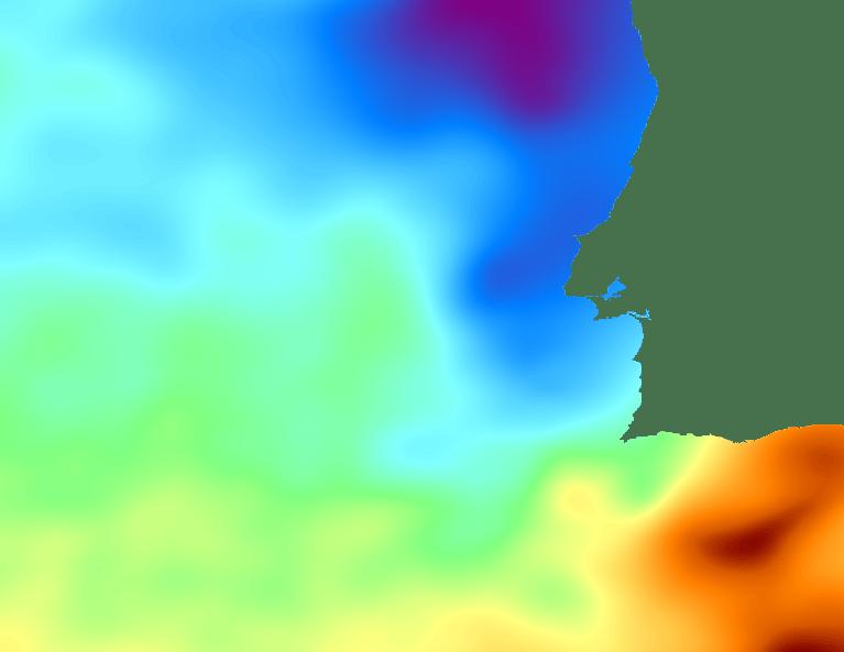 Sea surface temperature chart