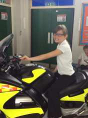 Riding one of the blood bikes
