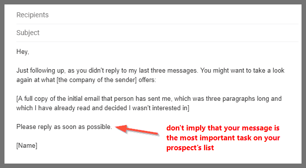 6 follow-up email samples to use after you get no response   LeadGibbon