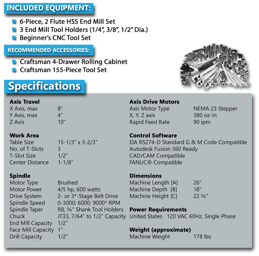 HX8410 VMC Technical Specifications