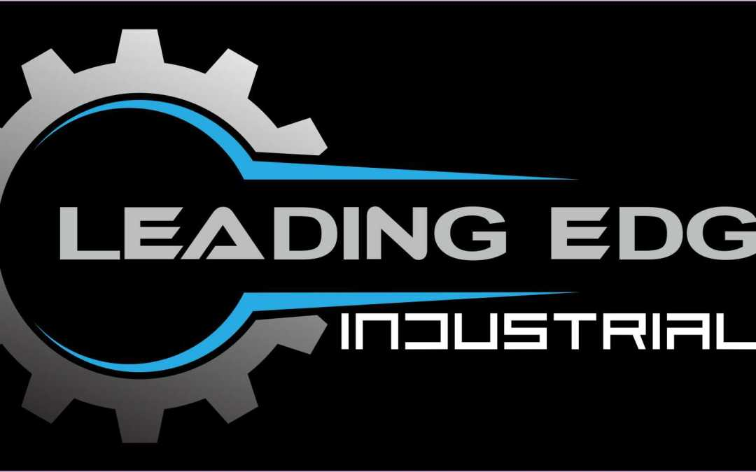 Leading Edge Industrial Logo - Main [Black Background]