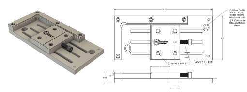 Leading Edge Industrial - Low Profile Vise Dimensions