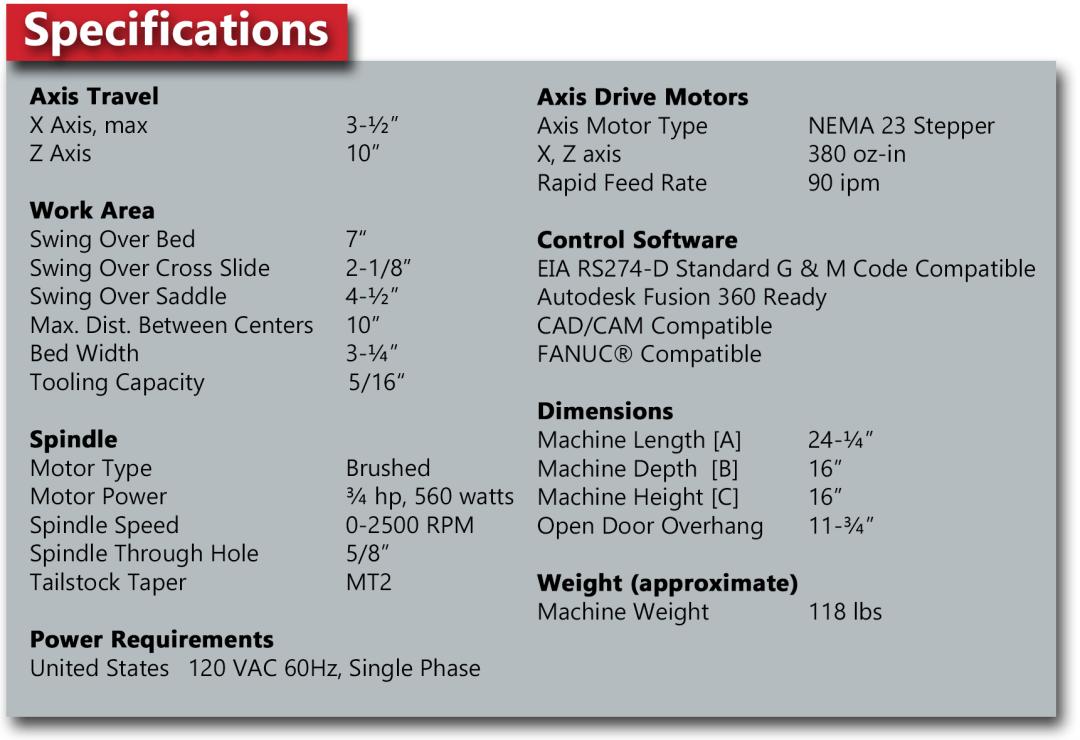 HX8410 VMC Technical Specifications
