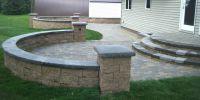 paver patio steps  Leading Edge Landscapes