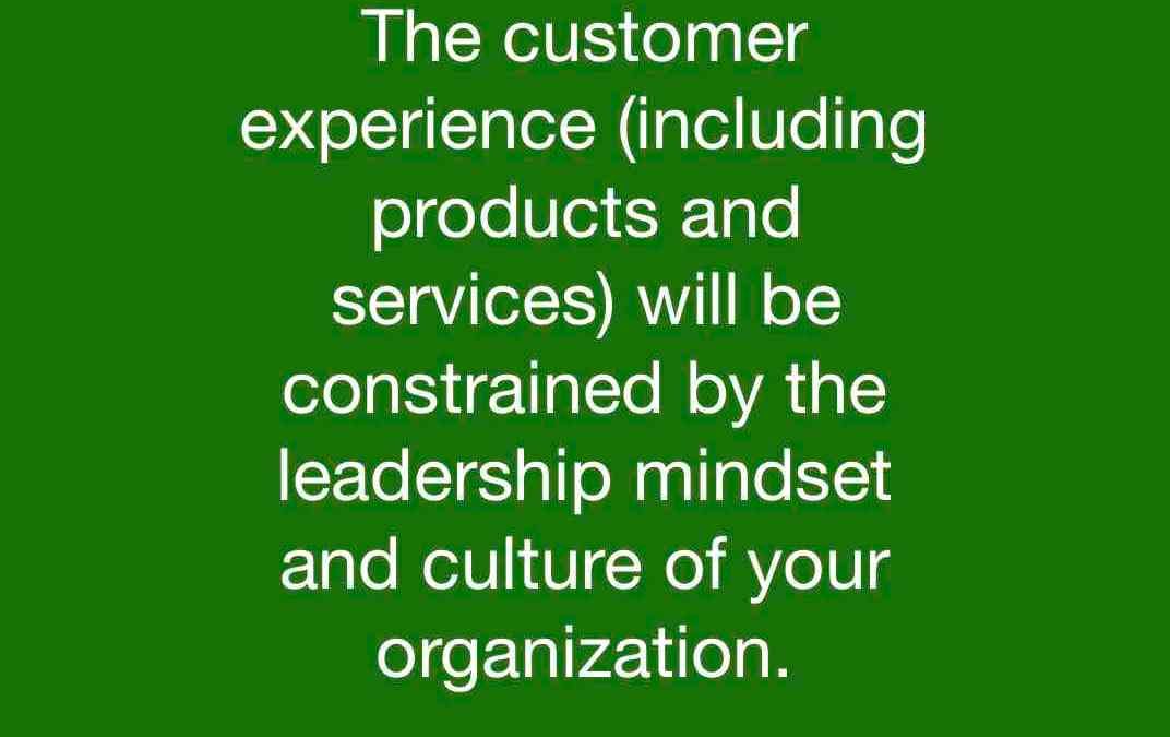 The reflection of a leadership mindset