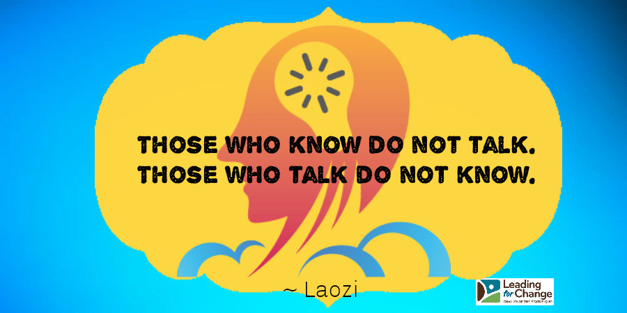 Those who do and do not talk