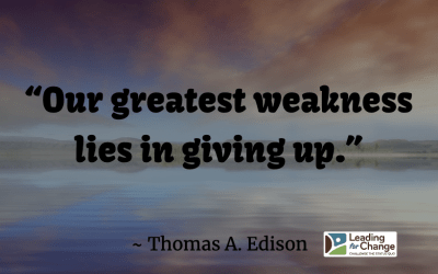 Your greatest leadership weakness