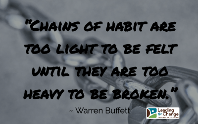 Changing a habit takes patience