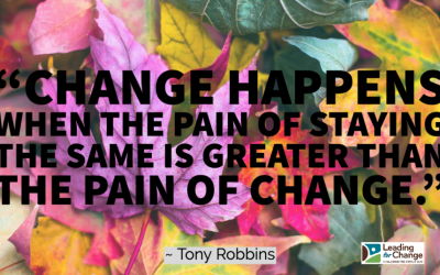 When the pain of change is fading