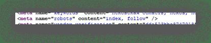 """meta name = """"robots"""" content = """"index, follow"""""""
