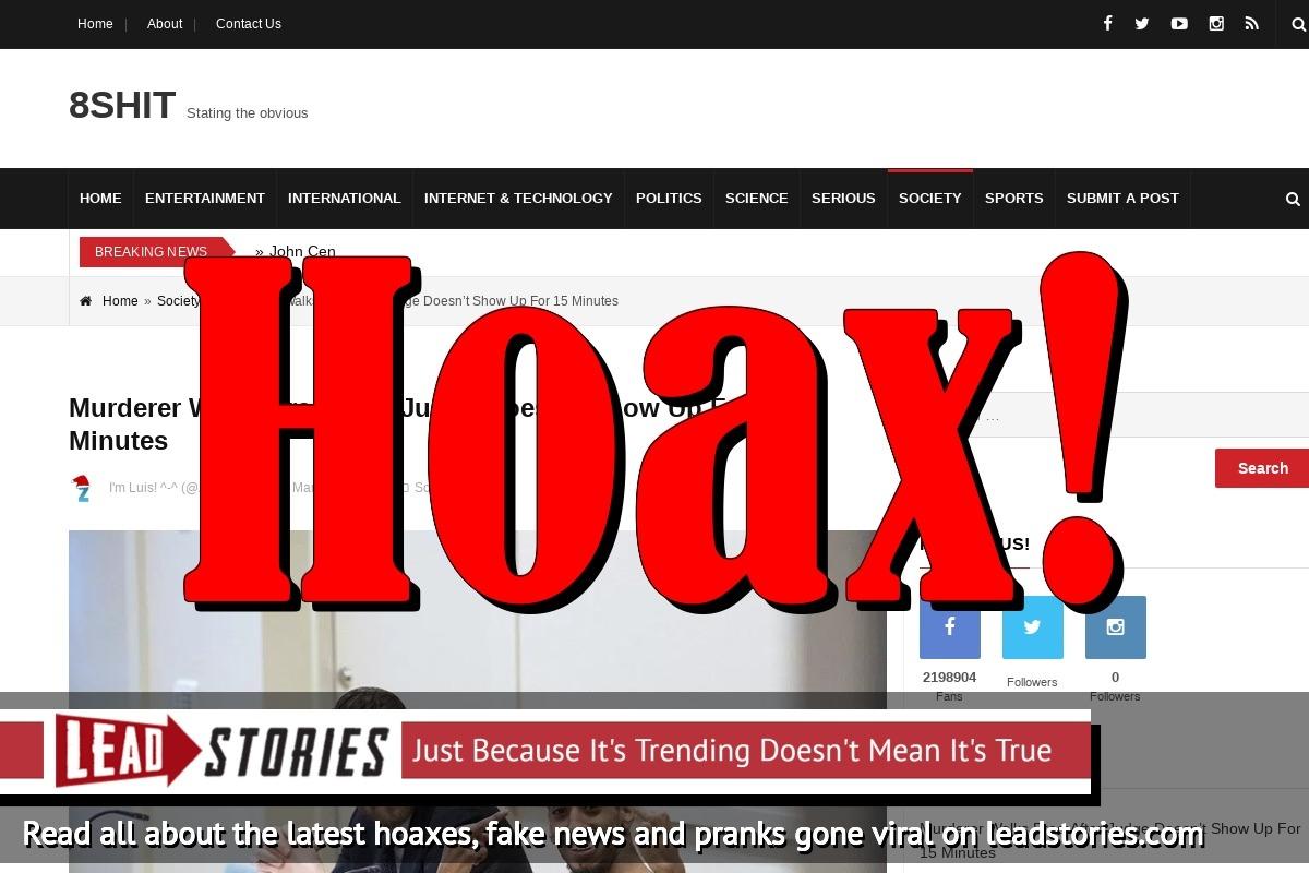 fake news murderer did