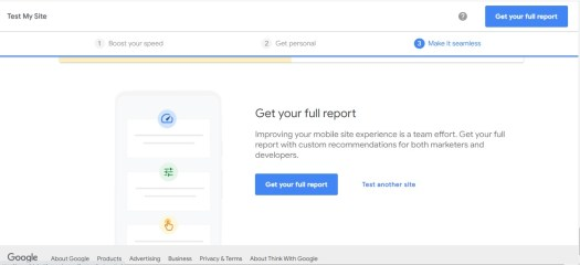 how to download the full report of google test my site