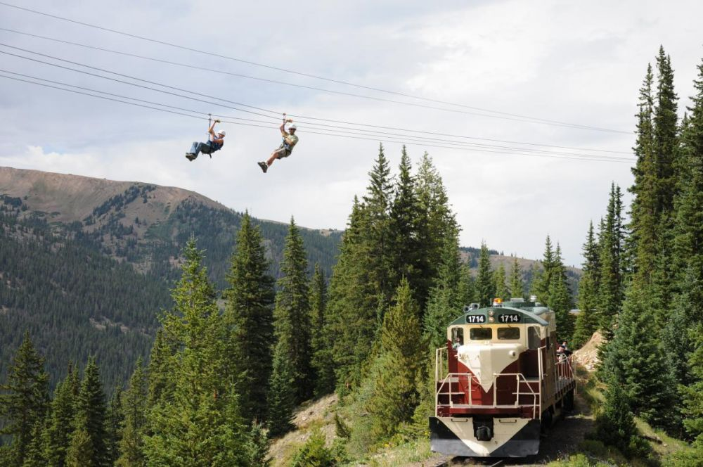 Top of the Rockies Zip-Line and Train Ride Special