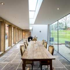 Contemporary Kitchen Design Commercial Supplies Oak & Glass Extension To Listed House - Leaf ...