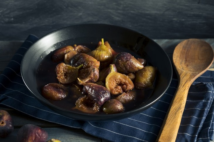 roasted balsamic fig and brussels sprouts