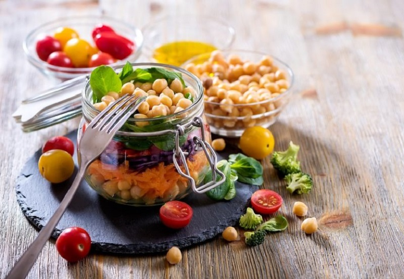 Healthy Salad in a Jar Recipe