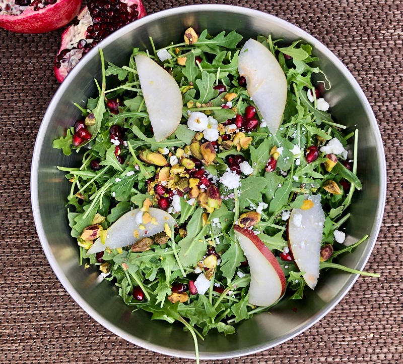 Fresh Summer Salad with Pomegranate and Arugula