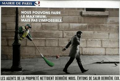 Mairie de Paris - Les agents de la propreté nettoient derière nous, évitons de salir derrière eux