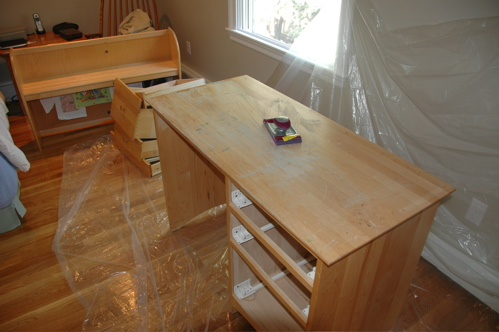 Take old desk and make it new.