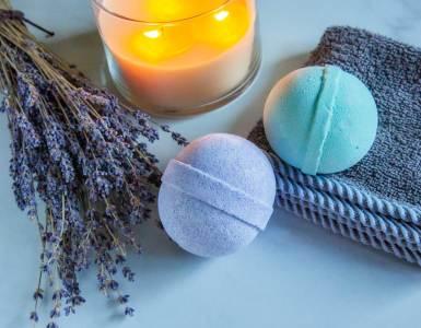 Hemp CBD Bath Bomb Lavender Eucalyptus