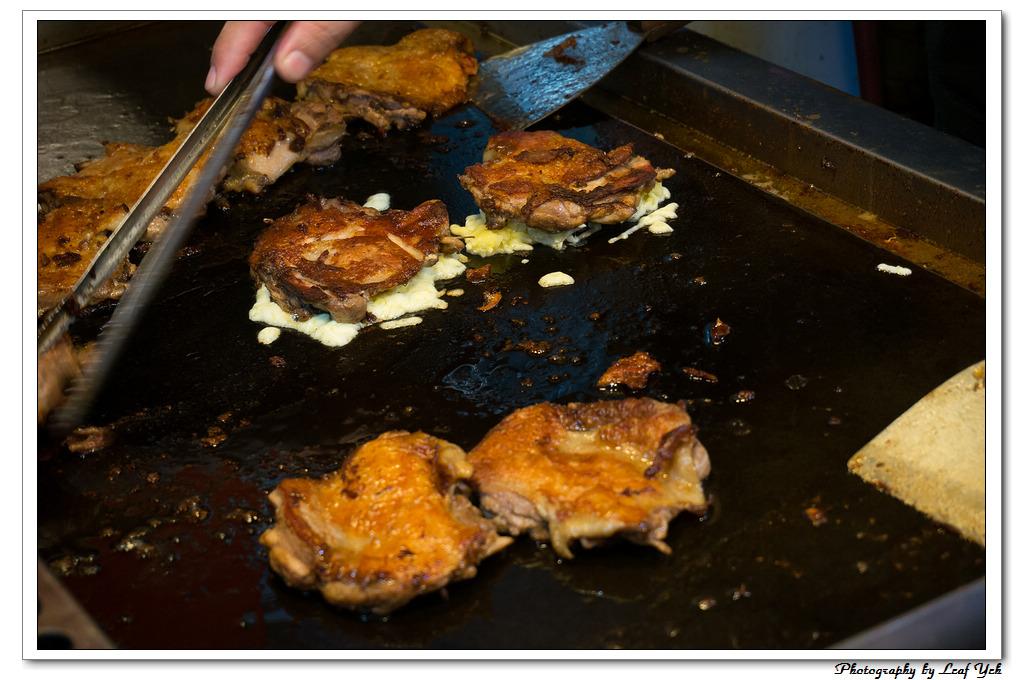 【臺北】巧手韓式蛋中蛋& 霸王別雞│蛋中蛋 , 三星蔥雞腿 ,饒河街 @葉影瓶像