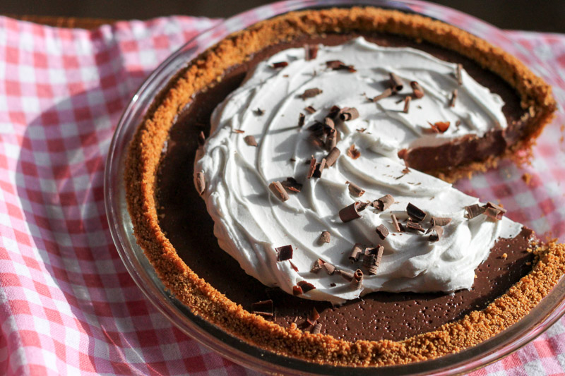 Chocolate Chocolate Pie - Leafy Greens and Chocolate