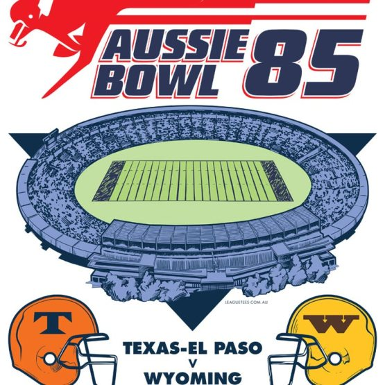 the first college football game in australia was played at Waverley Park in 1985