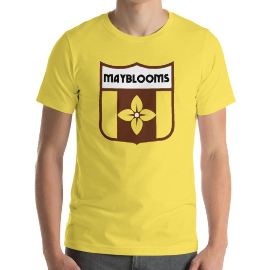 the mayblooms retro football shirt