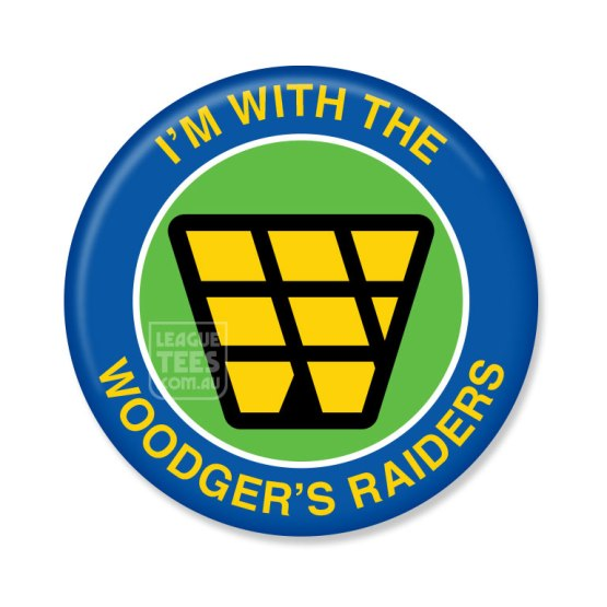 woodgers raiders retro rugby league jersey badge