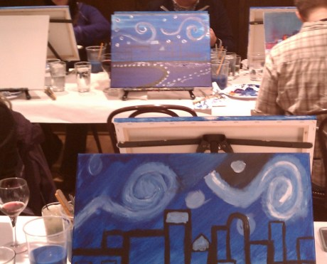 Wine and canvas party