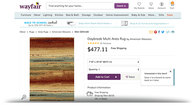 Daybreak area rug Wayfair