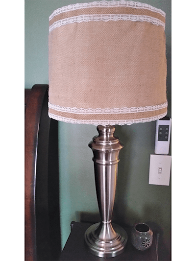 DIY lamp shade burlap