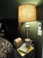 DIY lamp shade upgrade burlap