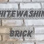 Whitewashing a Brick Fireplace